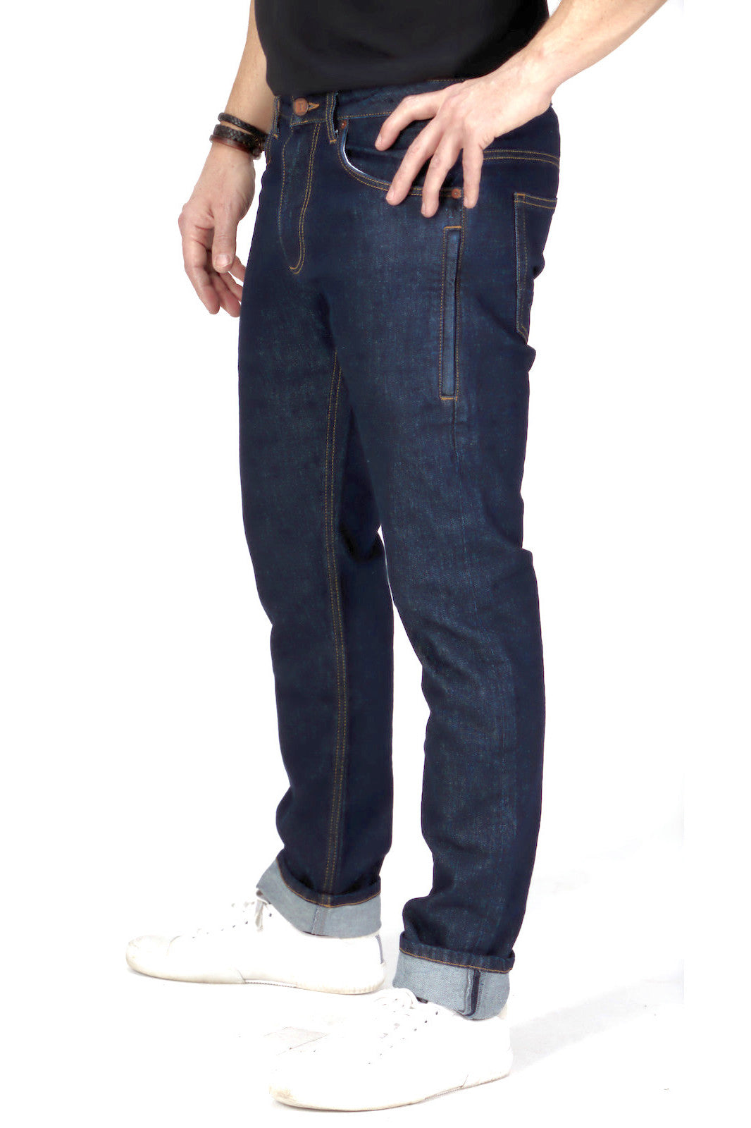 Slim Fit - Dark Wash Herren-Jeans