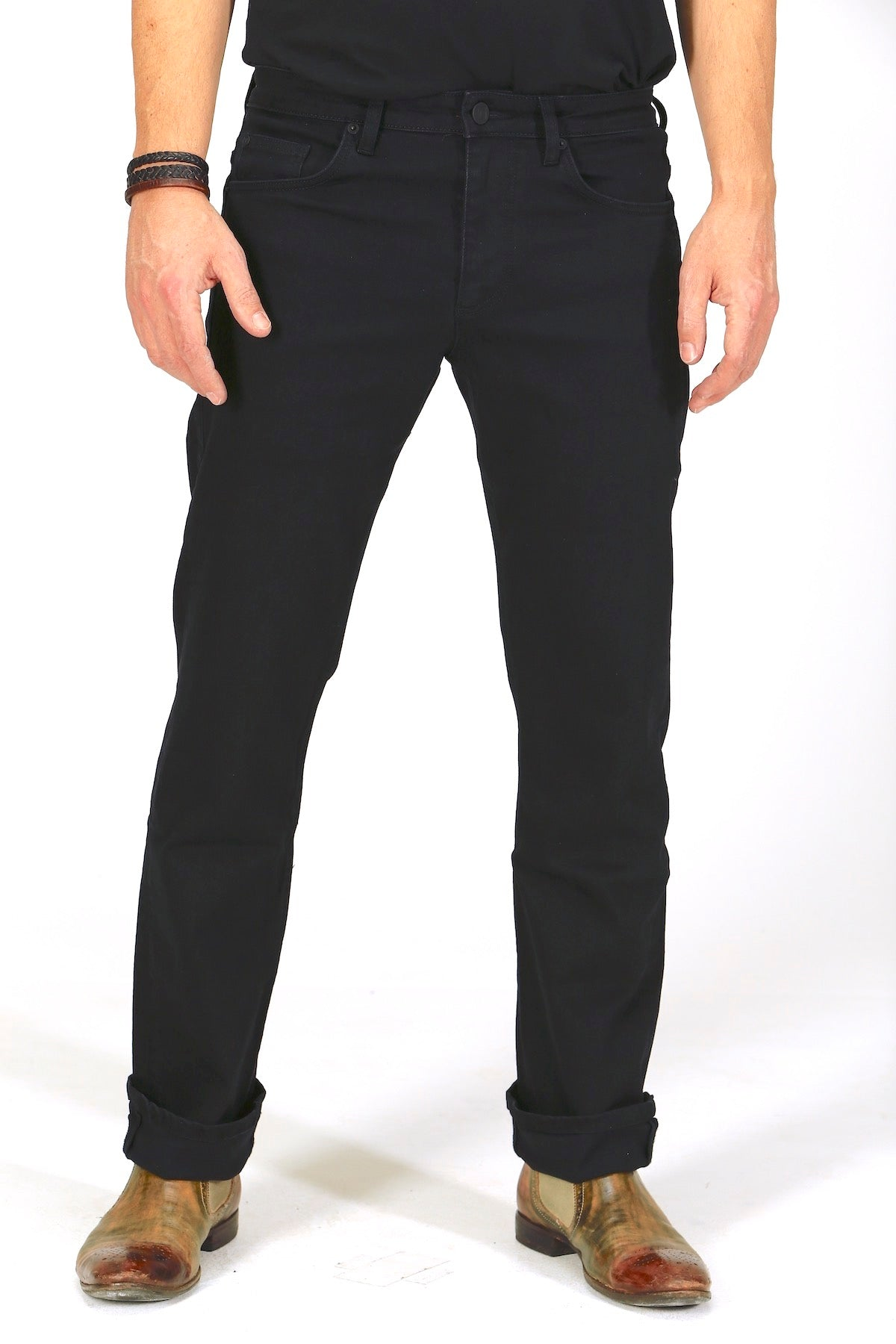 Straight Fit - Black Herren-Jeans