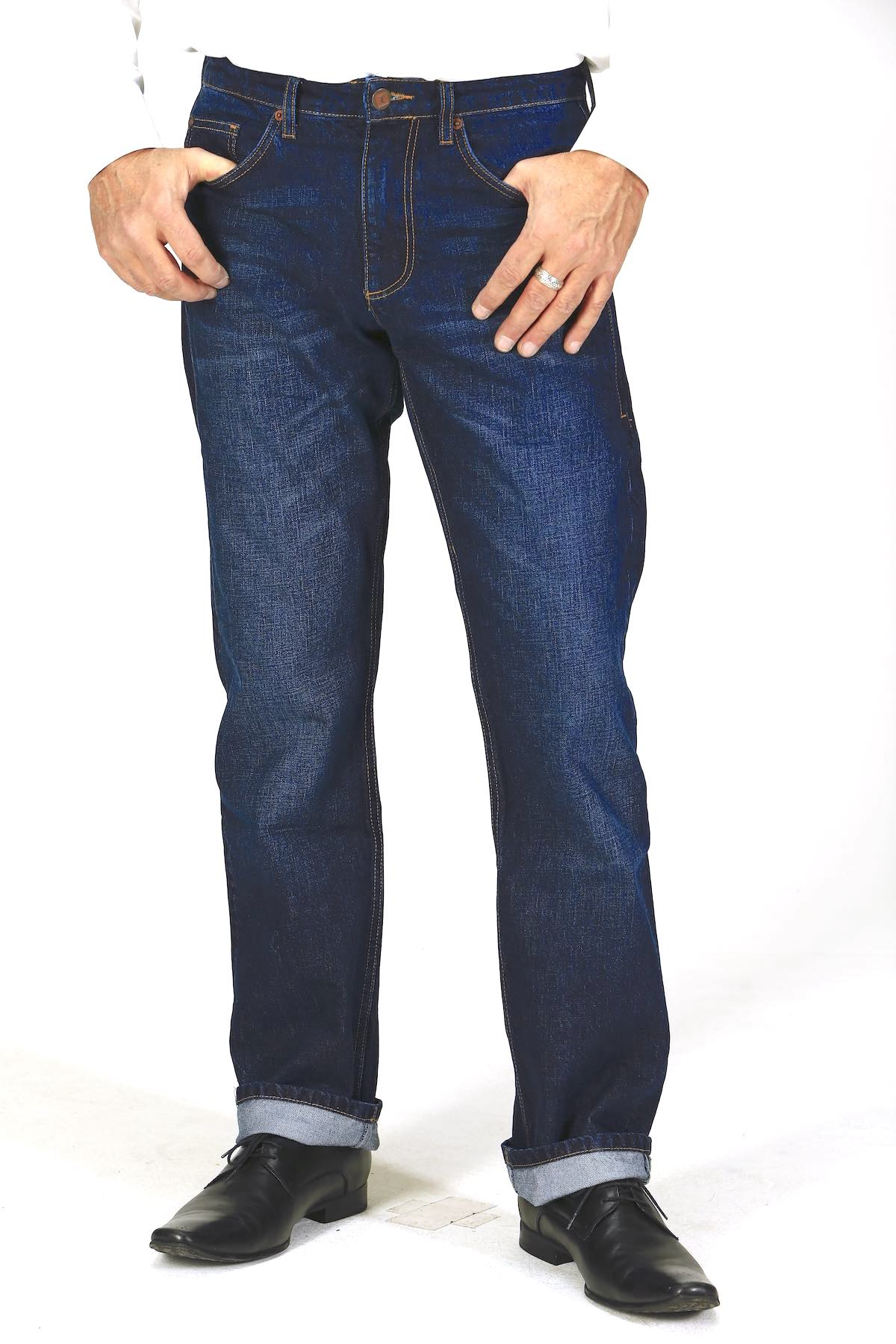 Straight Fit - Dark Indigo Herren-Jeans