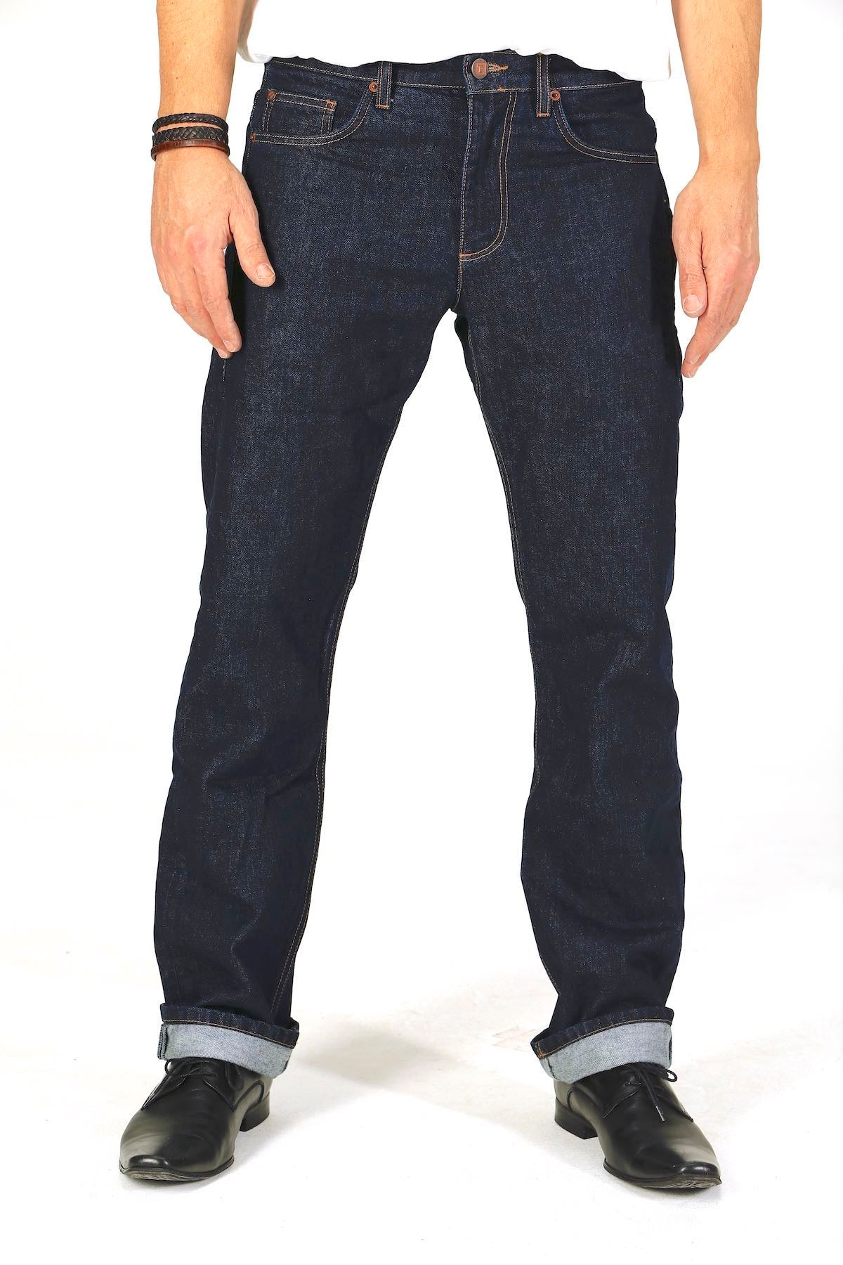 Straight Fit - Dark Wash Herren-Jeans