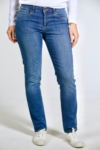 "Regular Slim Fit – mittelblaue Damen-Jeans ""Teresa"""