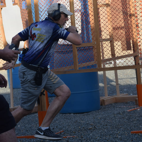 Shooter in USPSA competition