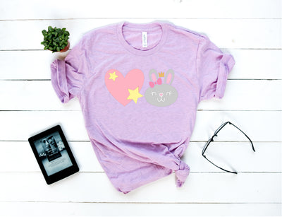 Little Love Bunny Emoji Shirt