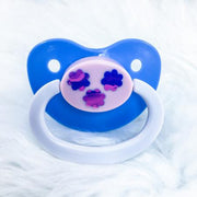 Clouds Vinyl BE Paci Blue/Pink/White