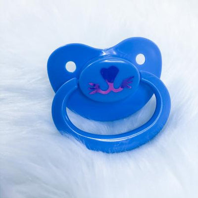 Blue Kitten Face BE Vinyl Paci