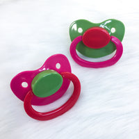 Strawberry Fields Color Mix Plain Adult Paci