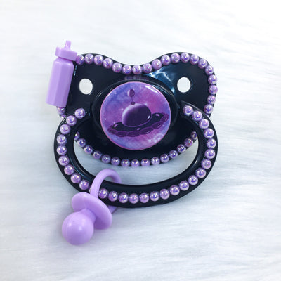Purple Littlespace Flying Saucer PM Paci (Custom Options Blank to Full Deco)
