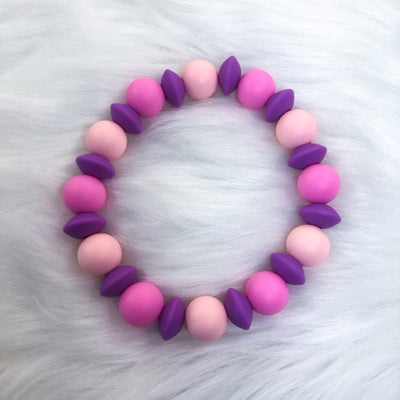 Purple Haze Teether Bracelet 7.25in