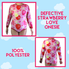 Defective Strawberry Love Onesie Snap-crotch Adult Bodysuit