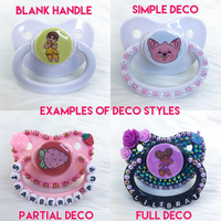 Baby Wolf White PM Paci (Custom Options Blank to Full Deco)