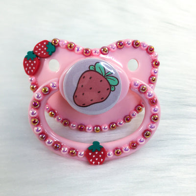 Red Strawberry PM Paci (Custom Options Blank to Full Deco)