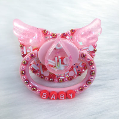 Seconds Strawberry Cry Baby PM Shaker Paci