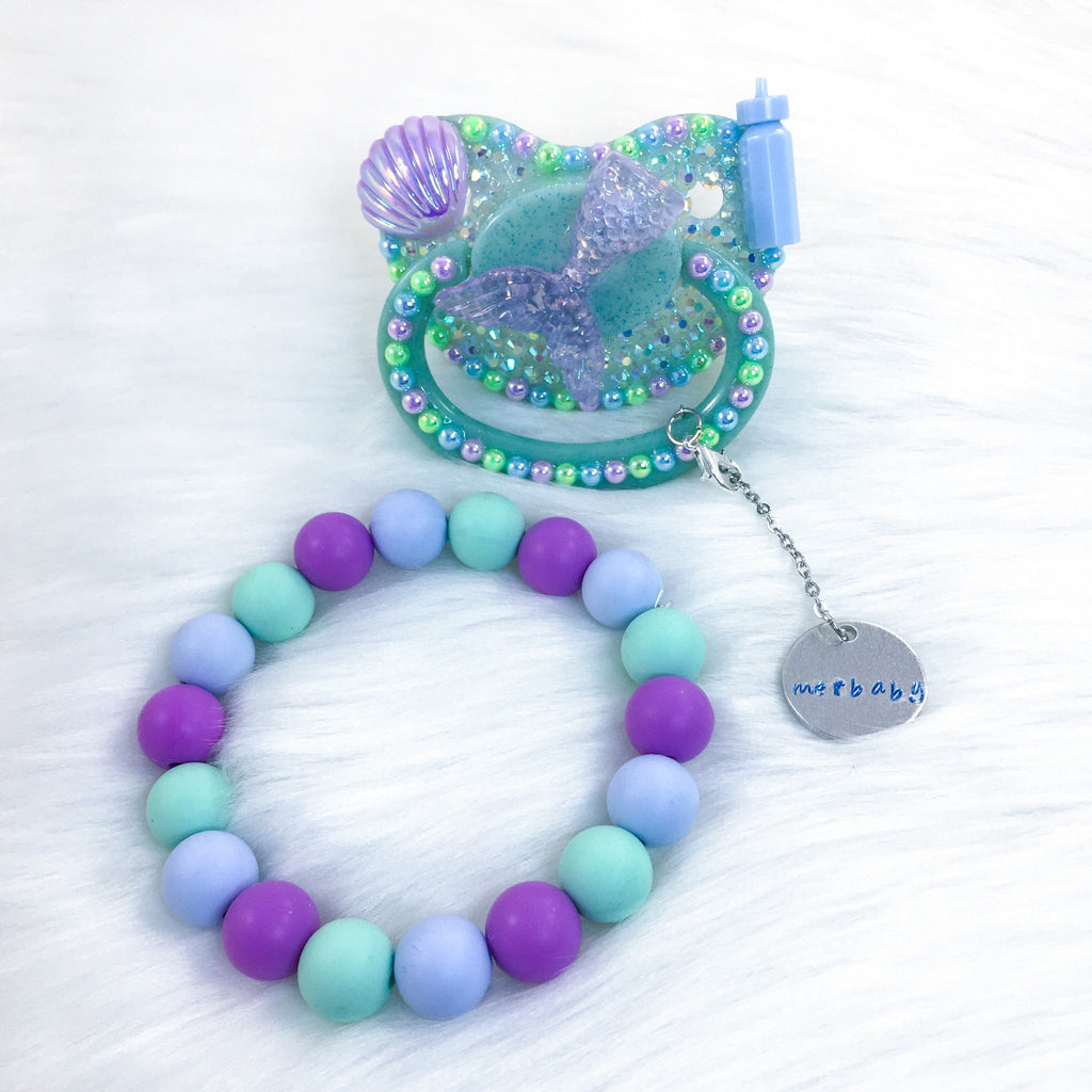 Merbaby Set (PM Paci, Paci Charm, and 7.25 in Teether Bracelet)