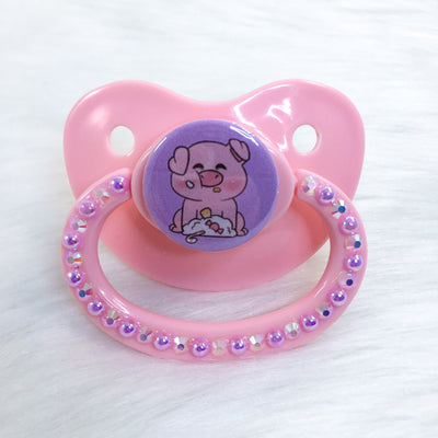 Sweet Piggy PM Paci (Custom Options Blank to Full Deco)