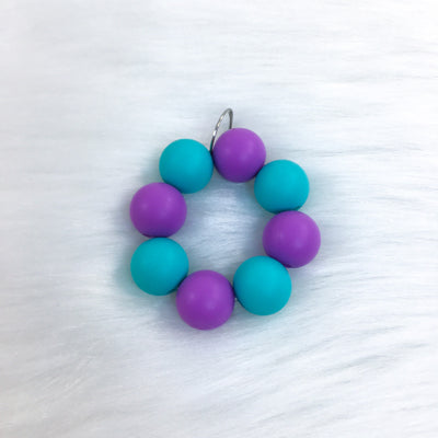 Purple and Teal Teether Charm