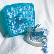 Blue Reindeer Set (Paci and Paci Storage/Snack Box)