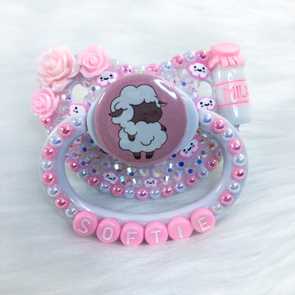 Pink Lil Lamb PM Paci (Custom Options Blank to Full Deco)