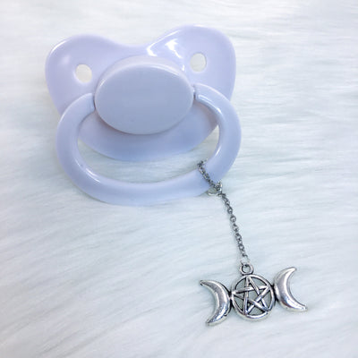 Triple Goddess Pentacle Paci Charm