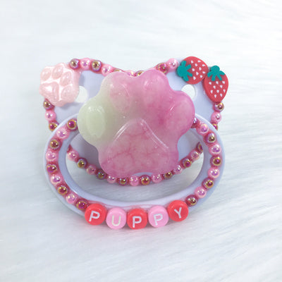 Seconds Strawberry Puppy PM Paci