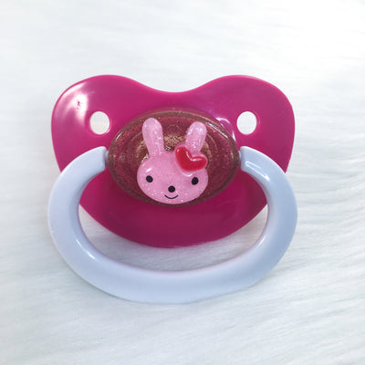 Hot Pink Bunny Simple BE Paci