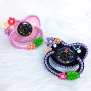 Floral Pentacle Black PM Paci (Custom Options Blank to Full Deco)
