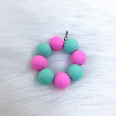 Pink and Green Teether Charm