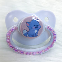Purple Kitten PM Paci (Custom Options Blank to Full Deco)