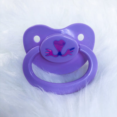 Lavender Kitten Face BE Vinyl Paci