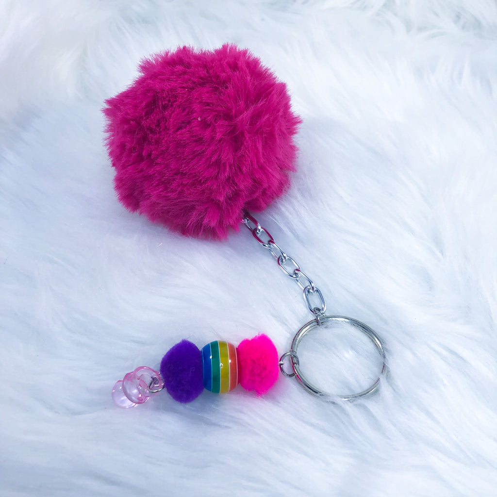 Clown Puff Baby Keychain