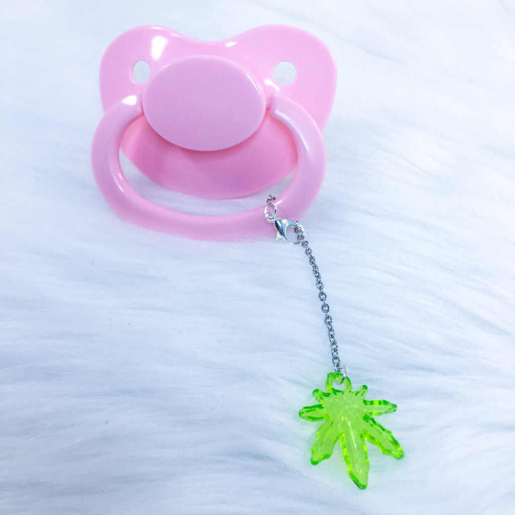 Stonie Leaf Removable Paci Charm (Many Color Options)