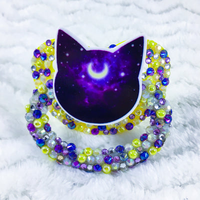 Lunar Kitty Partial Encrusted HC Paci