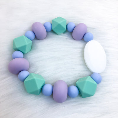 Calm Waves Chunky Teether Bracelet 8.25in