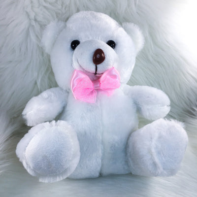 White Teddy Bear Stuffie HC Toybox
