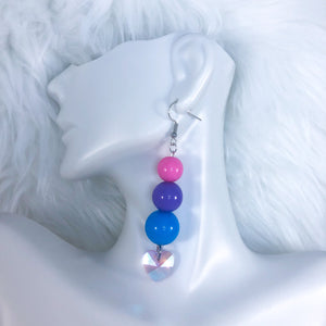 Bi Pride Hearts Earrings
