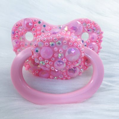 Partial Pink Encrusted AM Paci with Customizable Handle