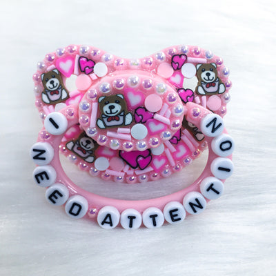 I Need Attention PM Stuffie Sprinkle Paci