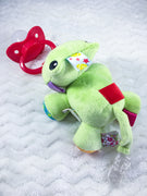Froggie Paci Clip and Paci Set