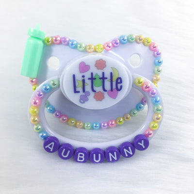 Little Confetti Small PM Paci (Custom Options Blank to Full Deco)