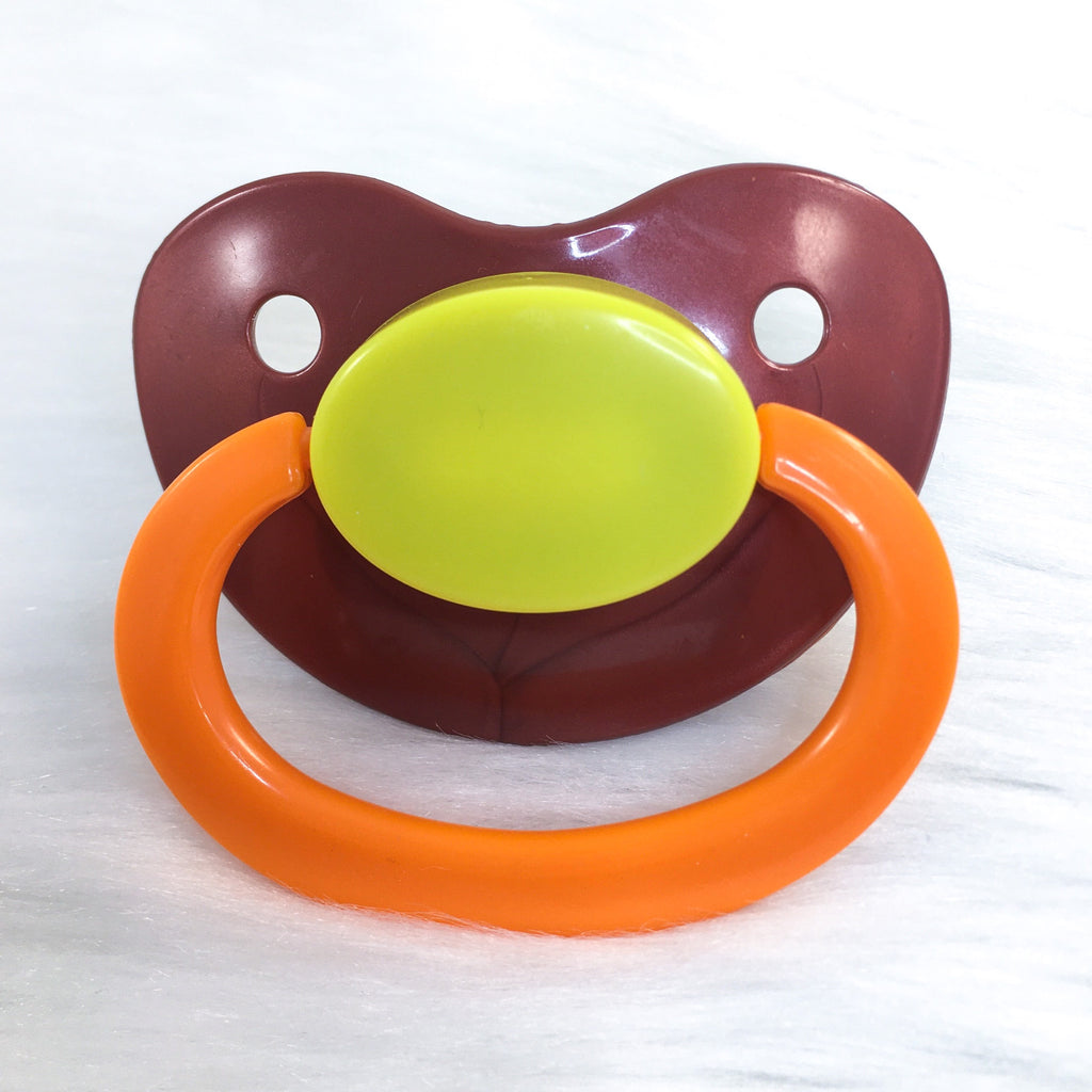 Lil Pumpkin Color Mix Plain Adult Paci