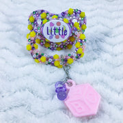Little Confetti Roses HC Paci with Charm