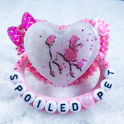 Spoiled Pet Poodle Shaker Nipple PM Paci