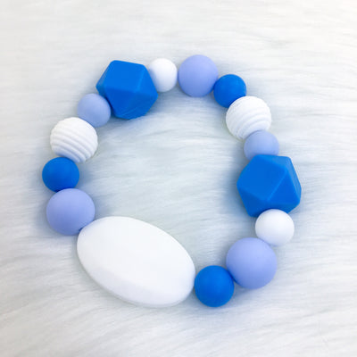 Baby Blue Chunky Teether Bracelet 7.25in