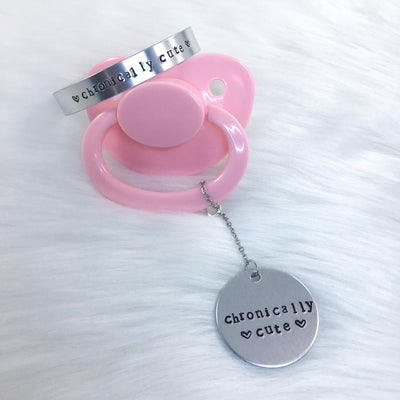 Chronically Cute Bracelet, Paci Charm, or Set