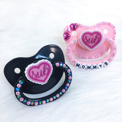 Sub Ruffle Heart PM Paci (Custom Options Blank to Full Deco)
