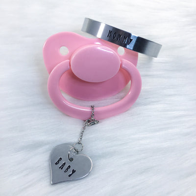 Mommy and Baby Set (Mommy Bracelet, Baby Paci Charm, or Set)