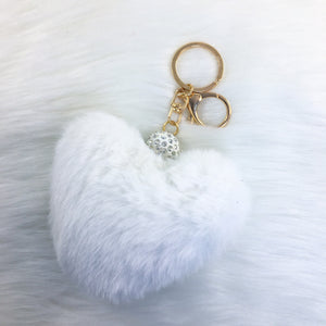 White/Gold Fluffy Heart HC Toybox