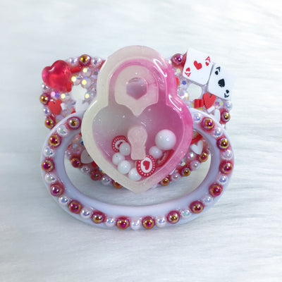 Seconds Queen of Hearts PM Shaker Paci with Customizable Charm