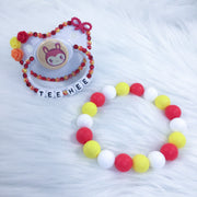 Tee Hee Set (PM Paci and Teether Bracelet)