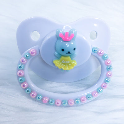 Bunny Princess (Mint/Pink) Simple PM Paci