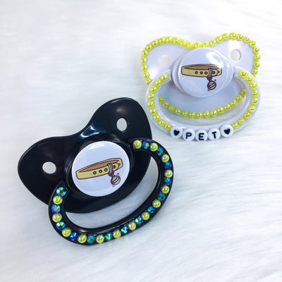 Yellow Collar PM Paci (Custom Options Blank to Full Deco)